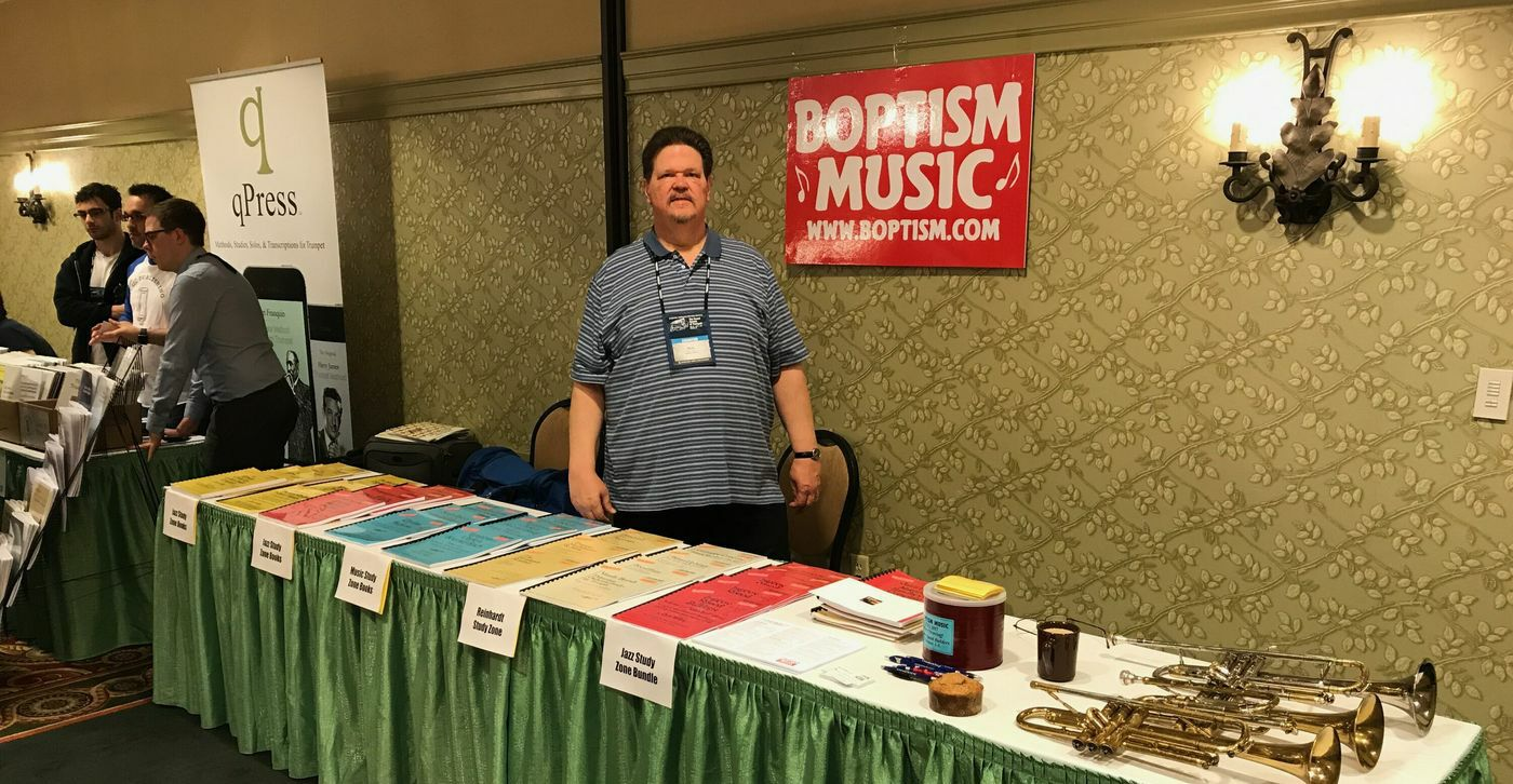 Boptism Music Table in Hershey PA at ITG 2017